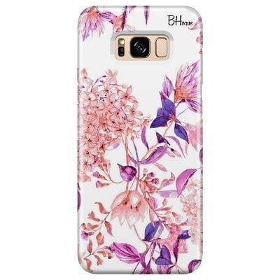 Vintage Pink Flowers Case Samsung S8 Plus