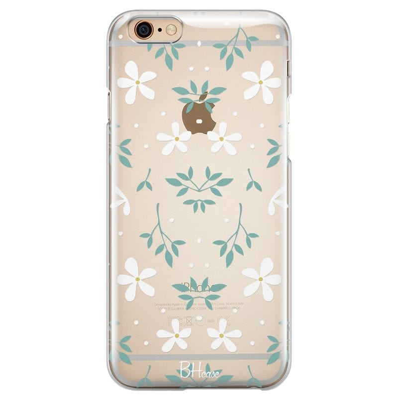 White Floral Case iPhone 6 Plus/6S Plus