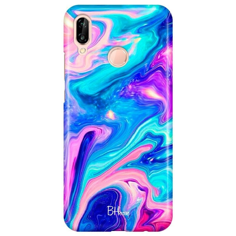 Abstract Blue Case Huawei P20 Lite