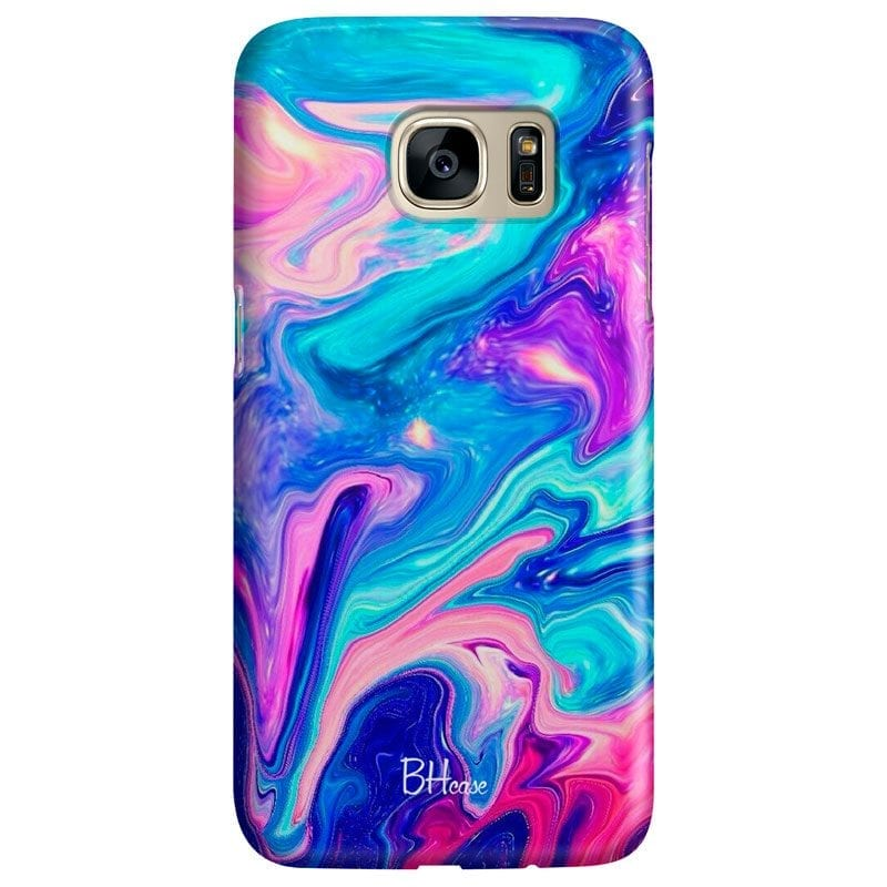 Abstract Blue Case Samsung S7
