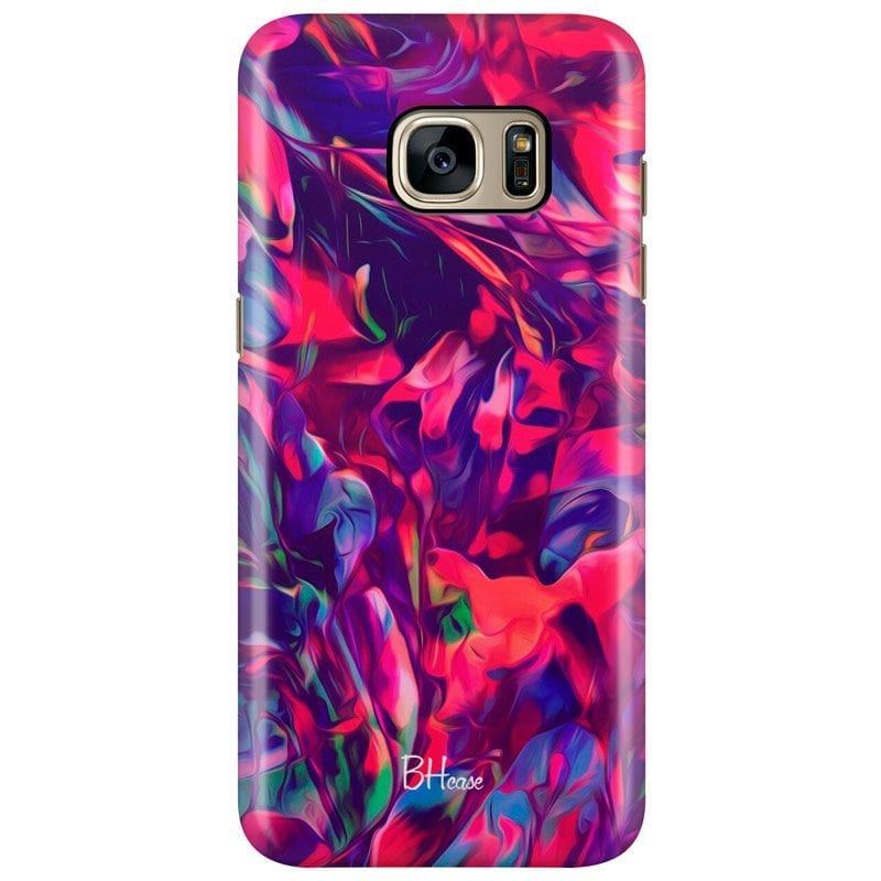 Abstract Red Case Samsung S7 Edge