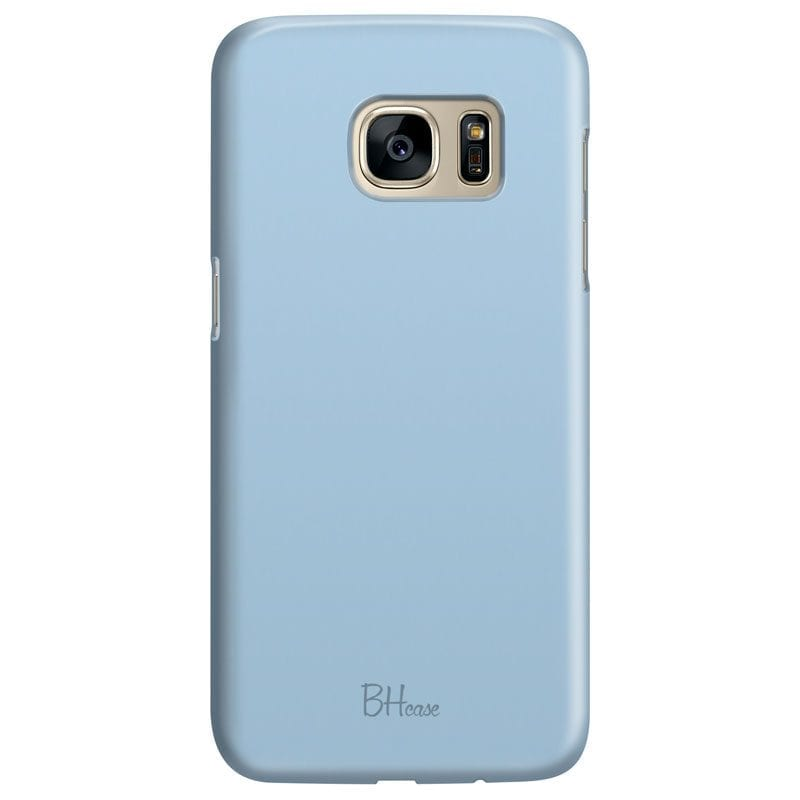 Baby Blue Color Case Samsung S7
