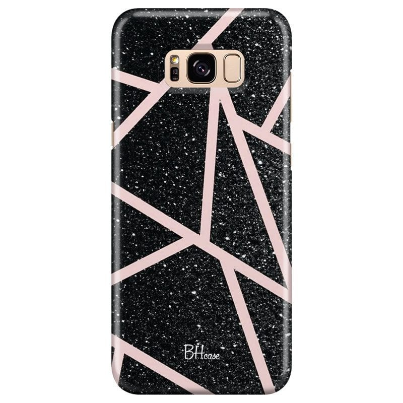 Black Glitter Pink Case Samsung S8 Plus