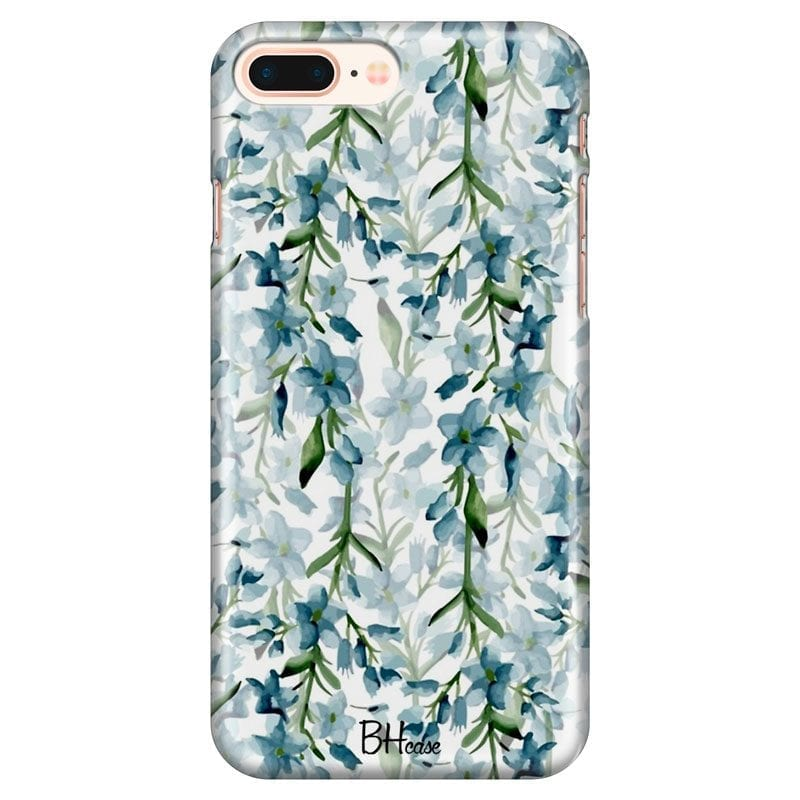 Blue Flowers Watercolor Case iPhone 7 Plus/8 Plus