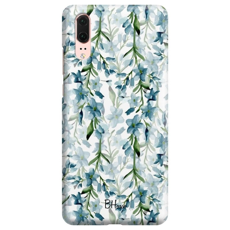 Blue Flowers Watercolor Case Huawei P20
