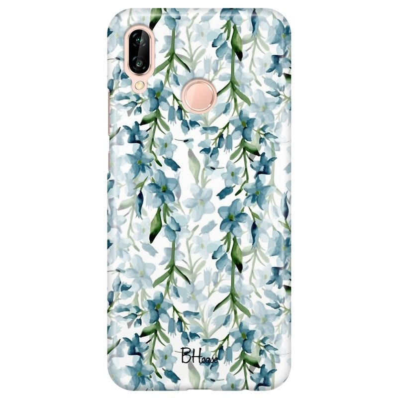 Blue Flowers Watercolor Case Huawei P20 Lite/Nova 3E