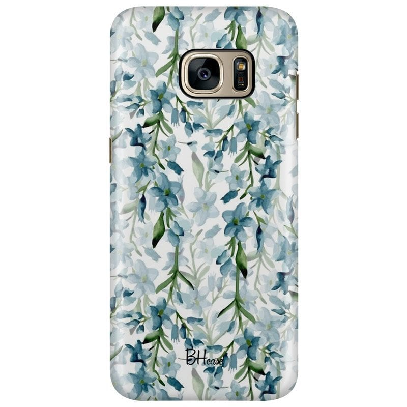 Blue Flowers Watercolor Case Samsung S7 Edge
