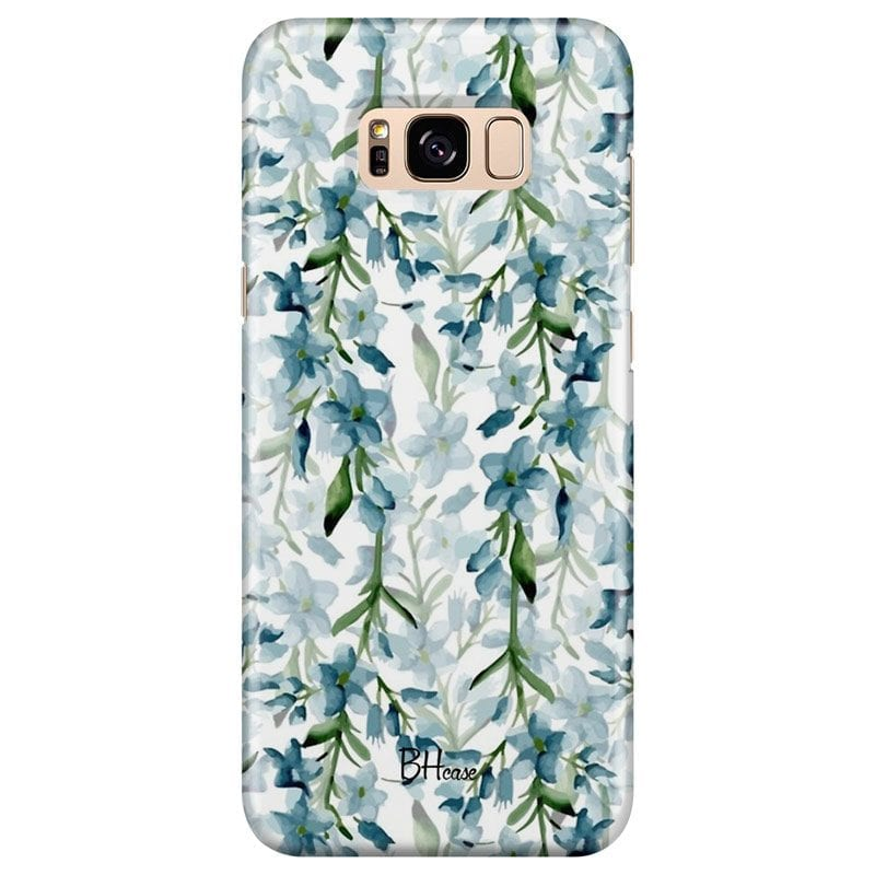 Blue Flowers Watercolor Case Samsung S8 Plus