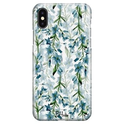 Blue Flowers Watercolor Case iPhone XS Max