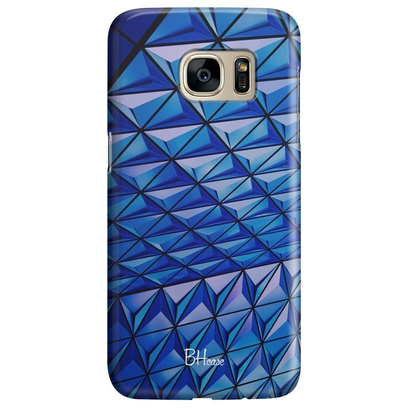 Blue Triangles Case Samsung S7