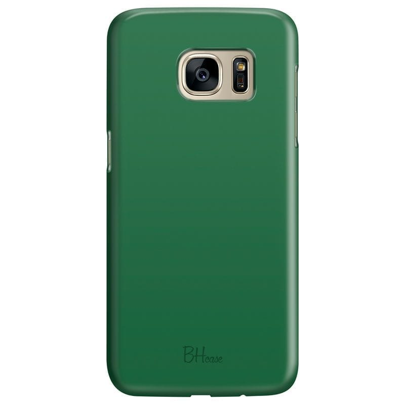 Dark Spring Green Color Case Samsung S7