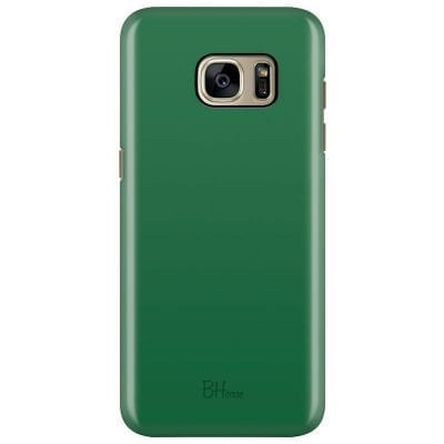 Dark Spring Green Color Case Samsung S7 Edge