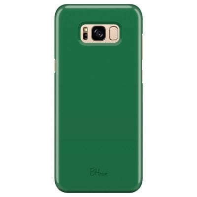 Dark Spring Green Color Case Samsung S8 Plus