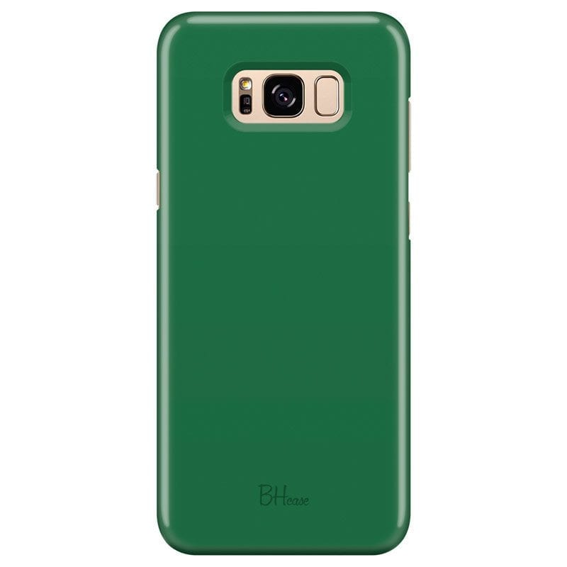Dark Spring Green Color Case Samsung S8