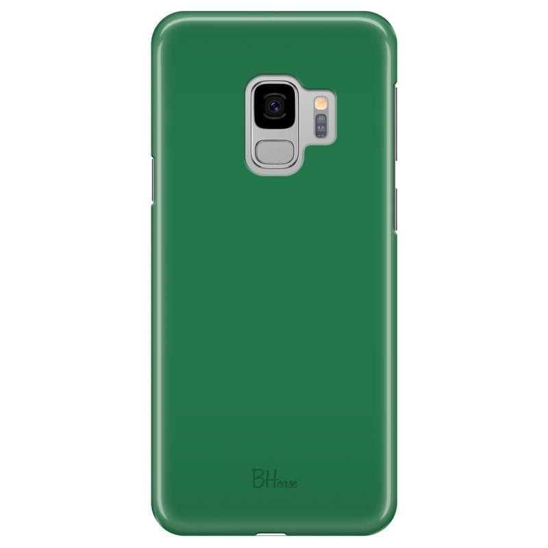 Dark Spring Green Color Case Samsung S9