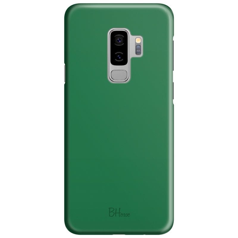 Dark Spring Green Color Case Samsung S9 Plus