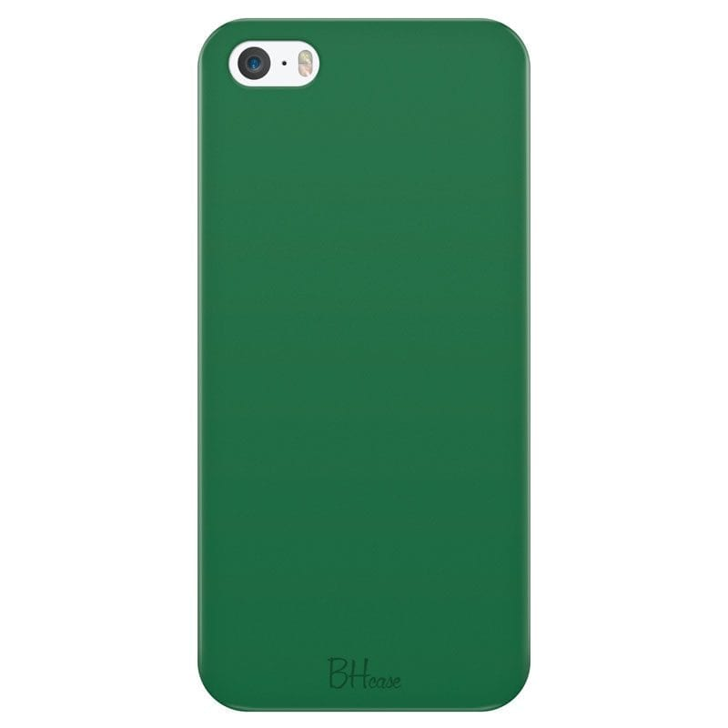 Dark Spring Green Color Case iPhone SE/5S