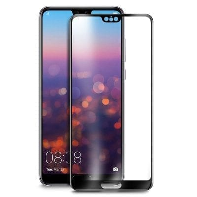 Full 3D Premium Tempered Glass Black Huawei P20