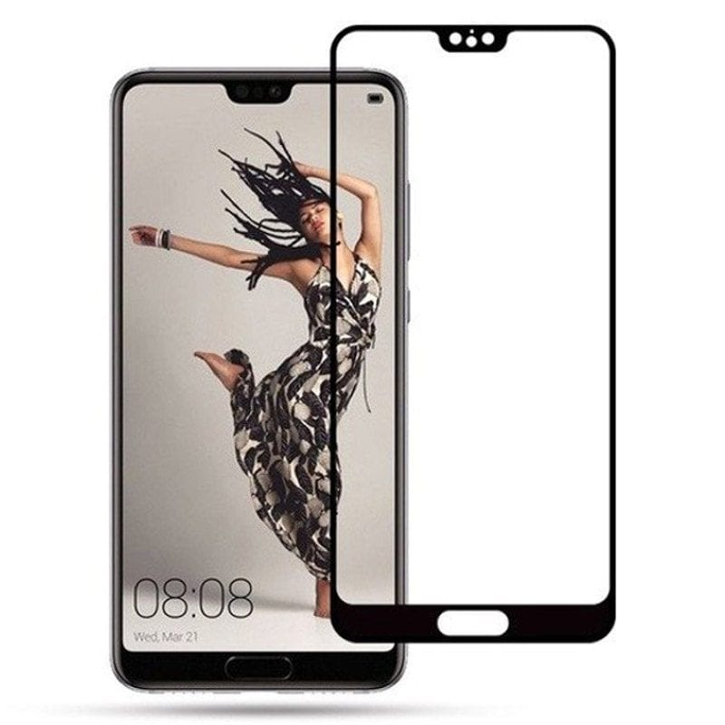 Full 3D Premium Tempered Glass Black Huawei P20 Pro