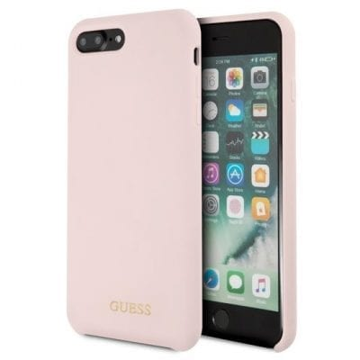 Guess Silicone Logo Light Pink Case iPhone 8 Plus/7 Plus/6S Plus/6 Plus