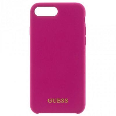 Guess Silicone Logo Pink Case iPhone 8 Plus/7 Plus/6S Plus/6 Plus
