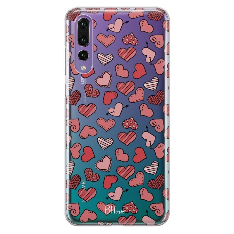 Hearts Red Case Huawei P20 Pro