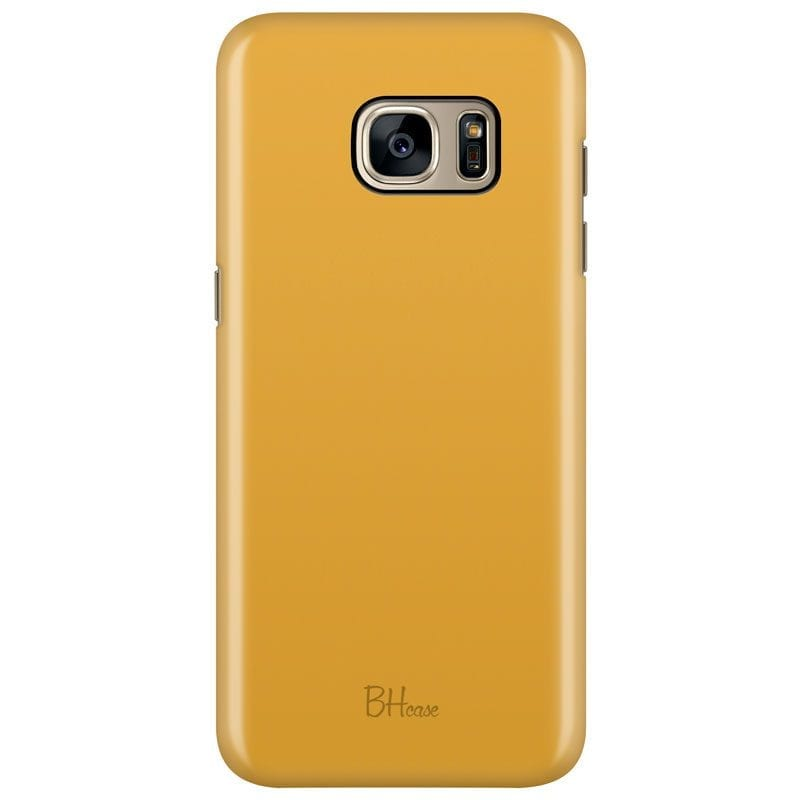 Honey Yellow Color Case Samsung S7 Edge