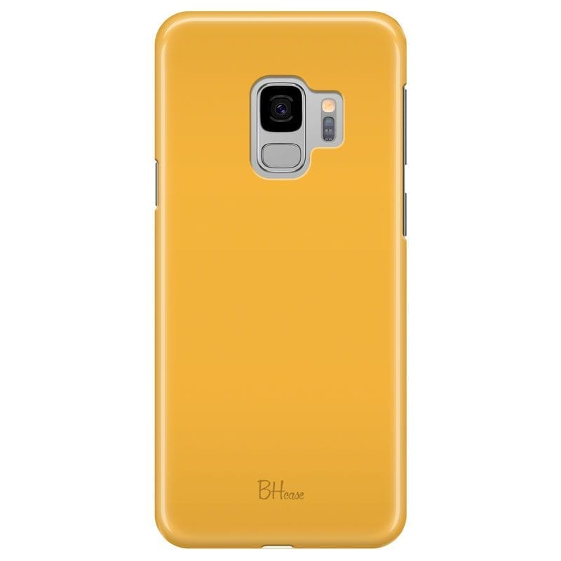 Honey Yellow Color Case Samsung S9