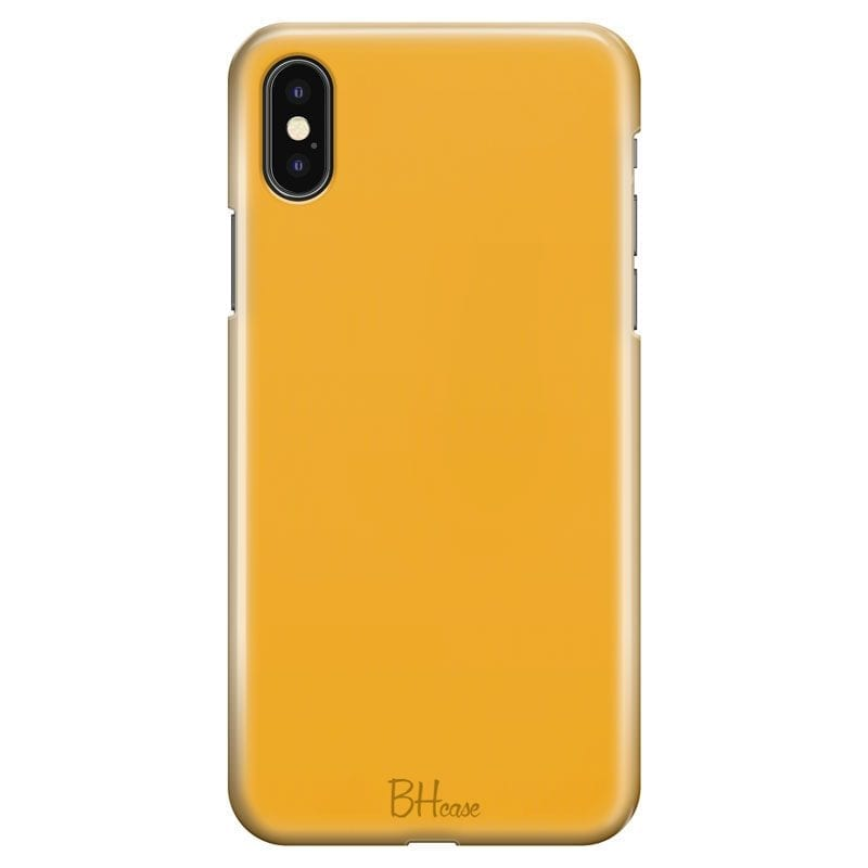 Honey Yellow Color Case iPhone XS Max
