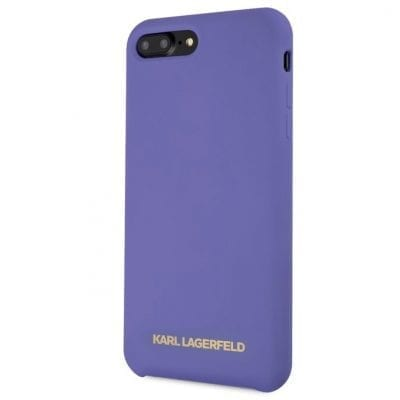 Karl Lagerfeld Gold Logo Silicone Purple Case iPhone 8 Plus/7 Plus/6S Plus/6 Plus