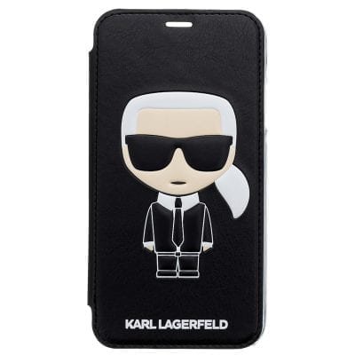 Karl Lagerfeld Ikonic Black Book Case iPhone XR