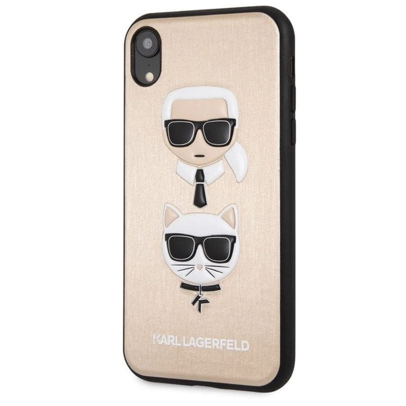 Karl Lagerfeld Karl And Choupette Gold Hard Case iPhone XR