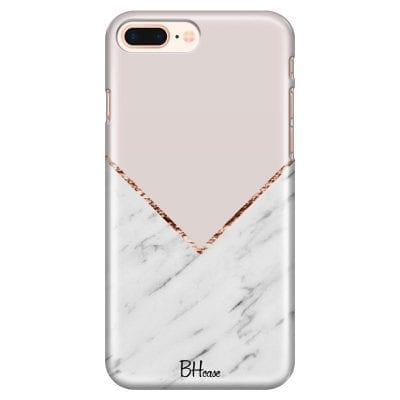 Marble And Pink Color Case iPhone 7 Plus/8 Plus
