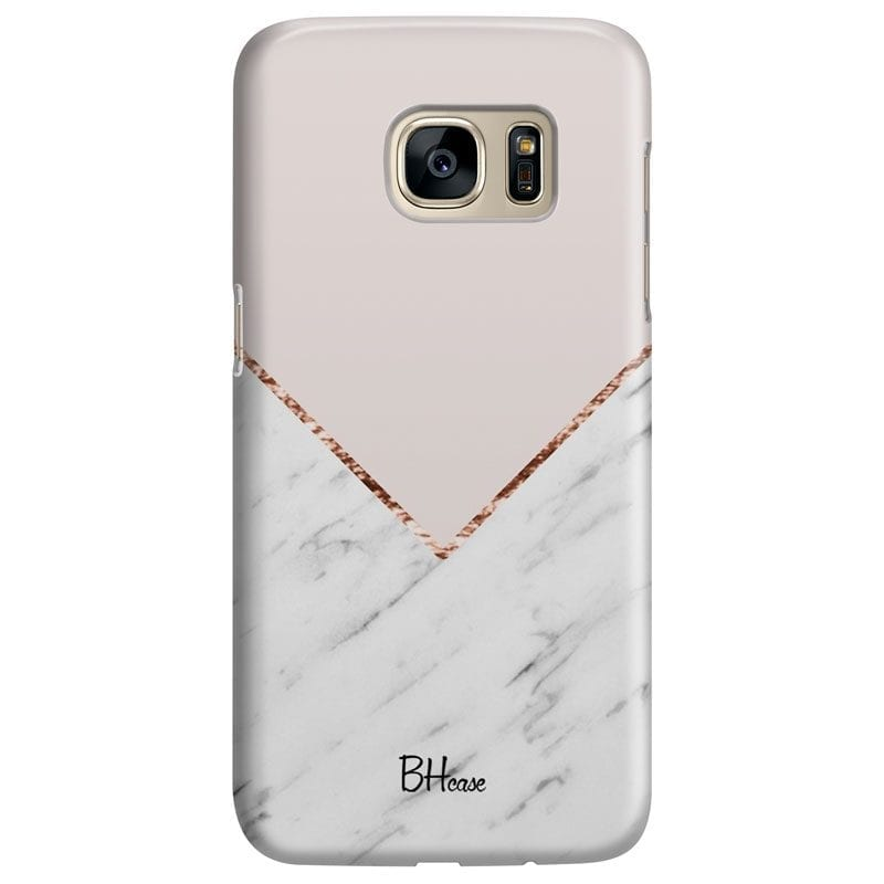 Marble And Pink Color Case Samsung S7