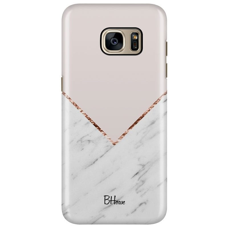 Marble And Pink Color Case Samsung S7 Edge