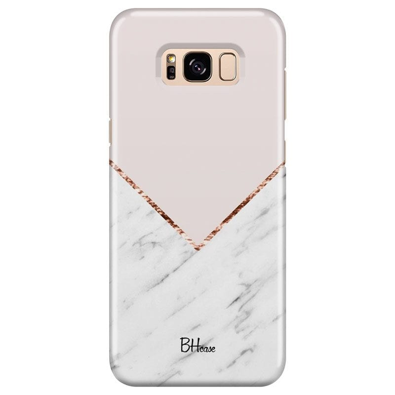 Marble And Pink Color Case Samsung S8 Plus