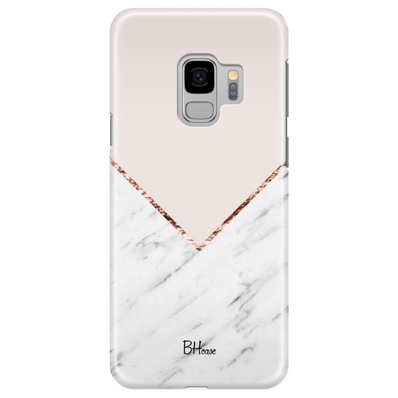 Marble And Pink Color Case Samsung S9