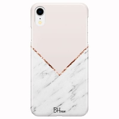 Marble And Pink Color Case iPhone XR
