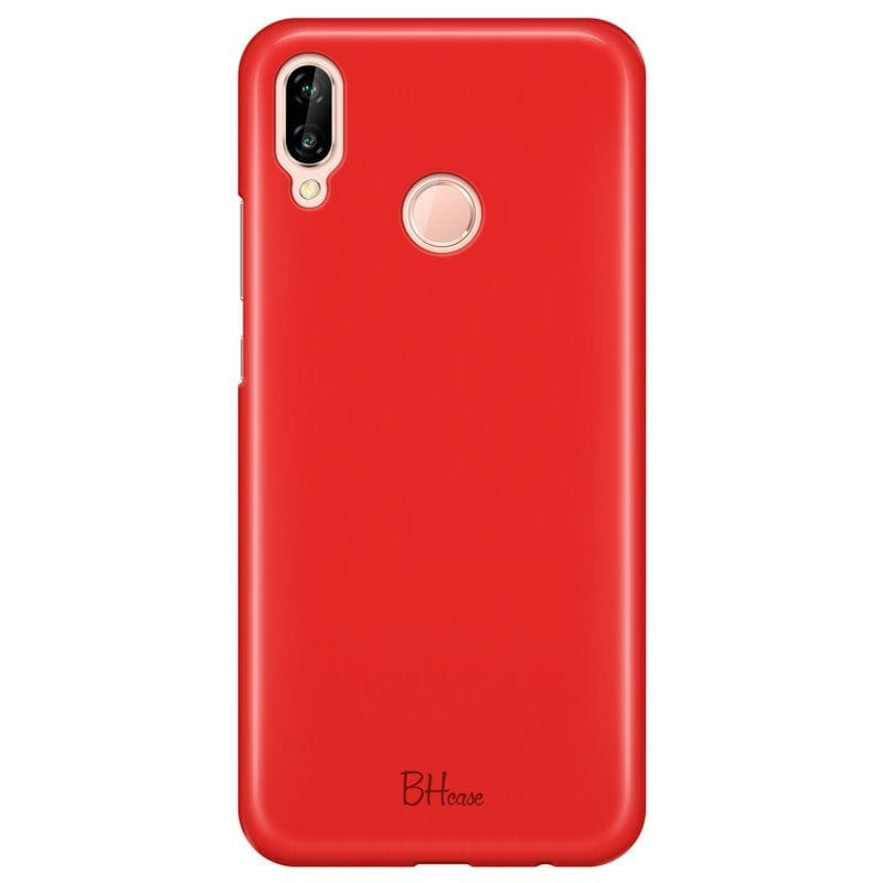 Red Apple Color Case Huawei P20 Lite