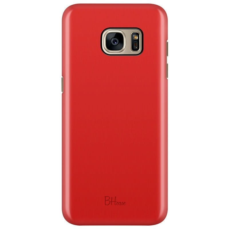 Red Apple Color Case Samsung S7 Edge