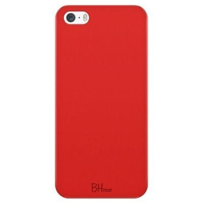 Red Apple Color Case iPhone SE/5S