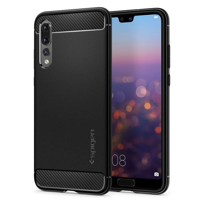 Spigen Rugged Armor Black Case Huawei P20 Pro