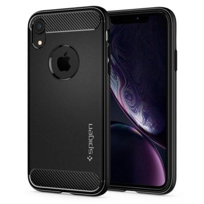 Spigen Rugged Armor Matte Black Case iPhone XR