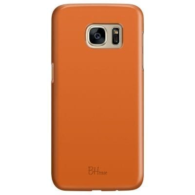 Tiger Orange Color Case Samsung S7