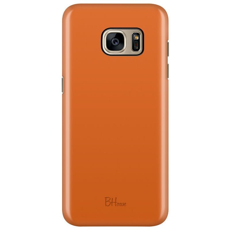 Tiger Orange Color Case Samsung S7 Edge