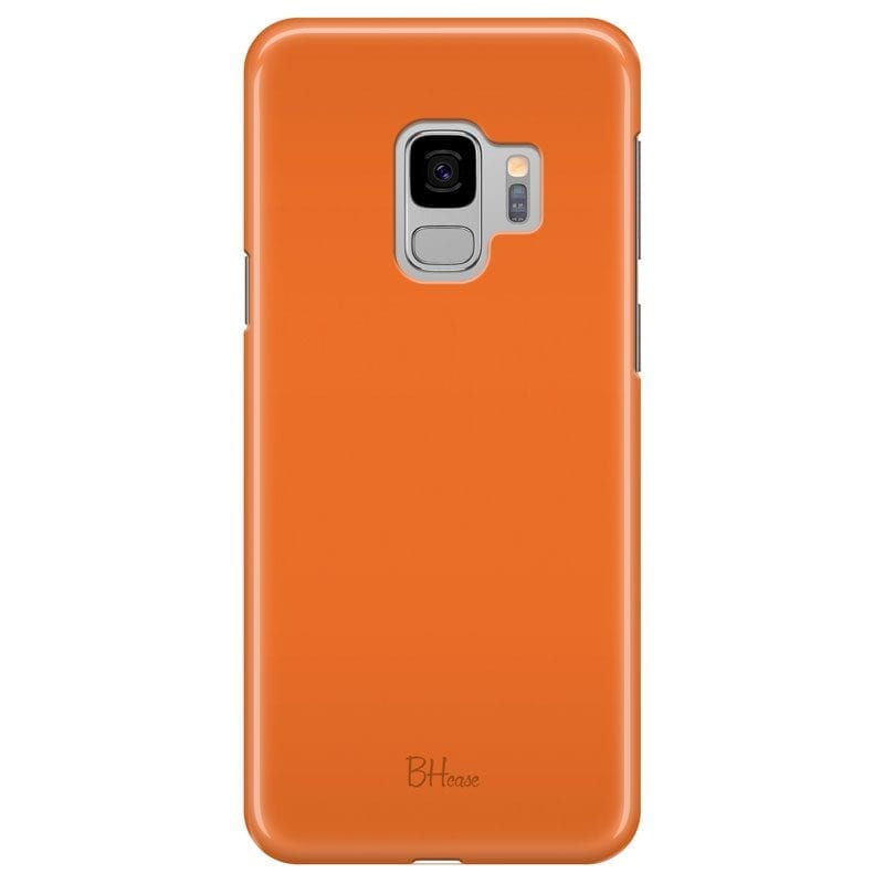 Tiger Orange Color Case Samsung S9