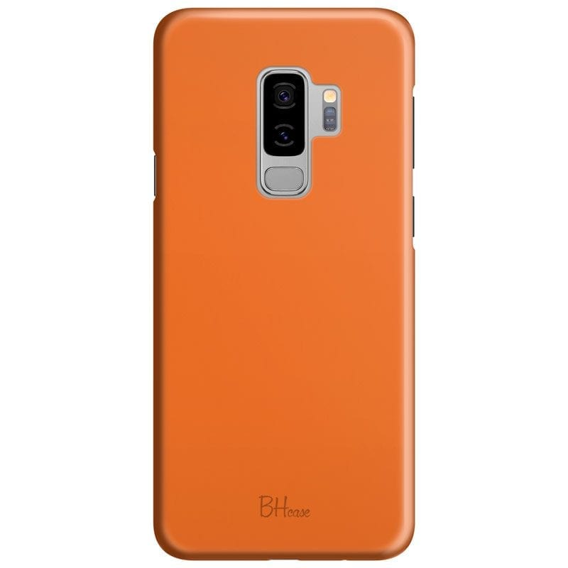 Tiger Orange Color Case Samsung S9 Plus