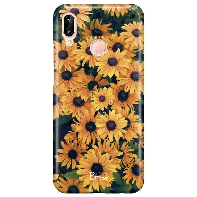 Yellow Flowers Case Huawei P20 Lite