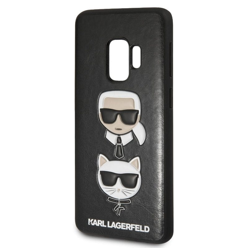 Karl Lagerfeld Karl and Choupette Black Case Samsung S9
