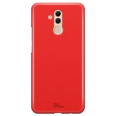 Red Apple Color Case Huawei Mate 20 Lite